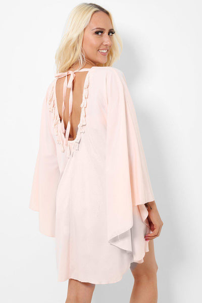 Tassels To Back Peach Butterfly Wings Top-SinglePrice