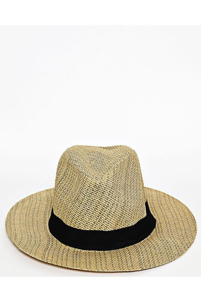 Black Trim Large Straw Hat-SinglePrice