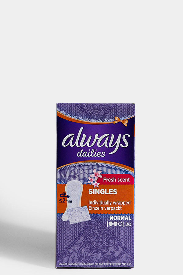 Always Dailies Pantyliners Fresh Scent 20 Liners - SinglePrice