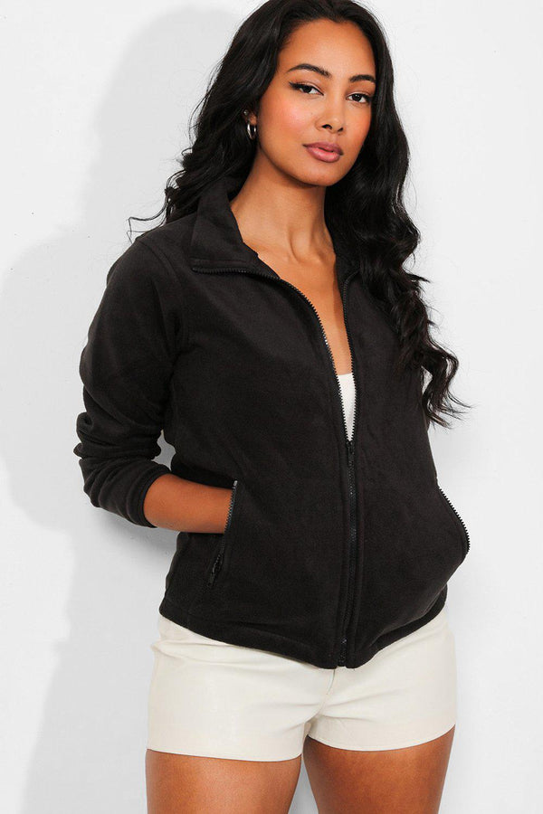 Black Full Zip Micro Fleece Jacket