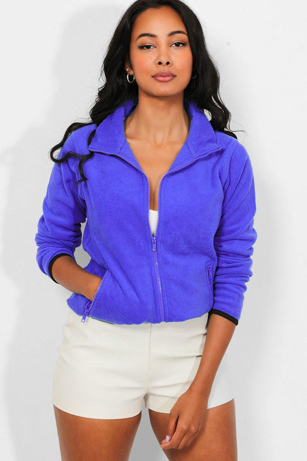 Purple Full Zip Micro Fleece Jacket
