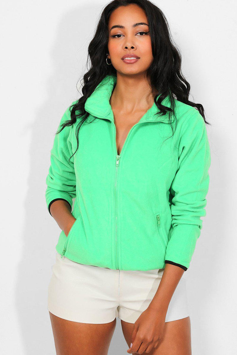 Green Full Zip Micro Fleece Jacket - SinglePrice