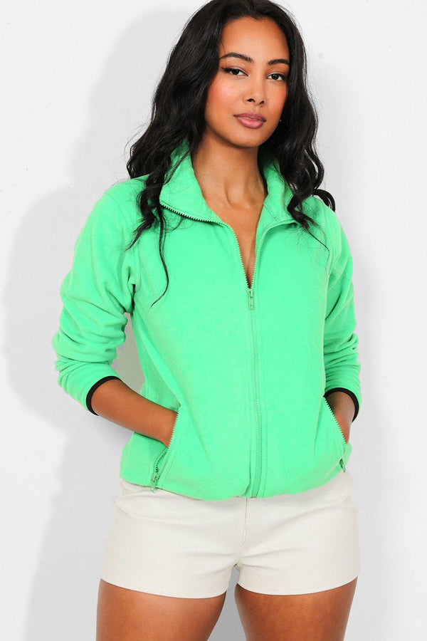 Green Full Zip Micro Fleece Jacket