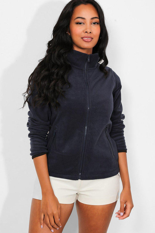 Navy Full Zip Micro Fleece Jacket