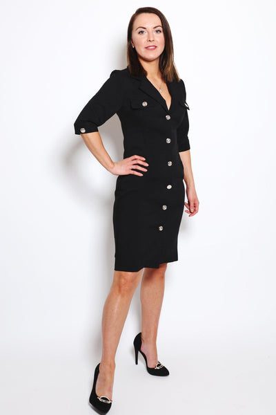 Black Blazer Dress-SinglePrice