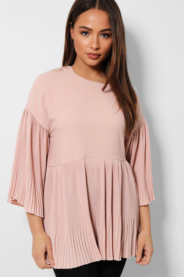 Pink Mini Pleated Frills Top - SinglePrice
