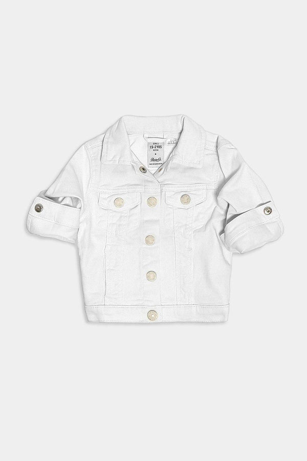 White Buttoned Kids Denim Jacket - SinglePrice