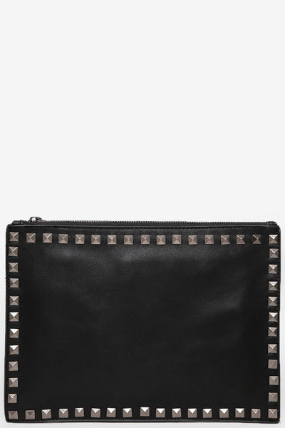 Studded Trim Black Skinny Clutch-SinglePrice