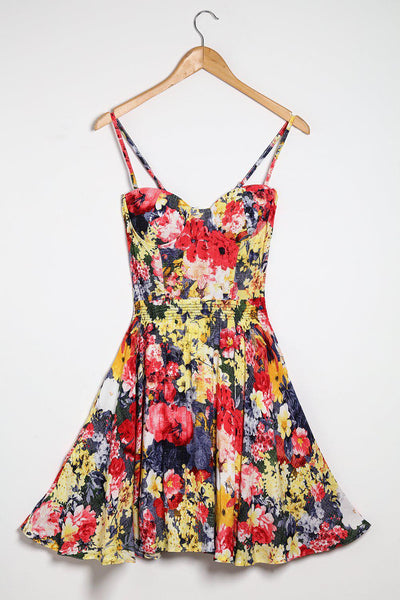 Multicolour Floral print Dress-SinglePrice