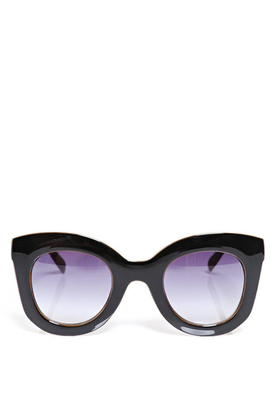 Black Oversized Butterfly Sunglasses-SinglePrice