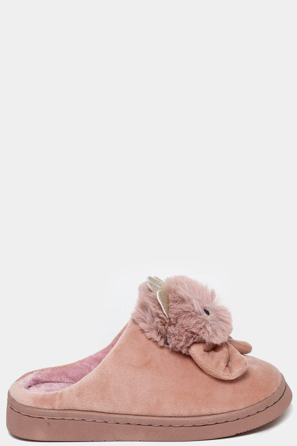 Pink Faux Fur Royal Kitty Slippers - SinglePrice