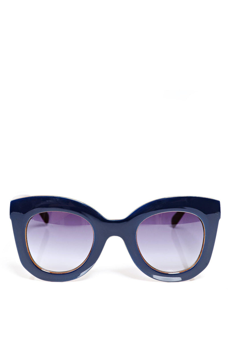 Navy Oversized Butterfly Sunglasses - SinglePrice
