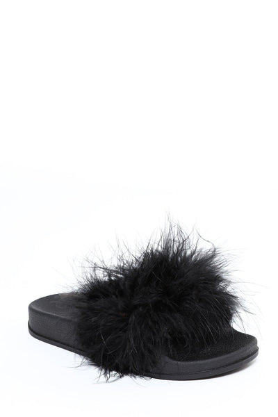 Black Feathers Sliders-SinglePrice