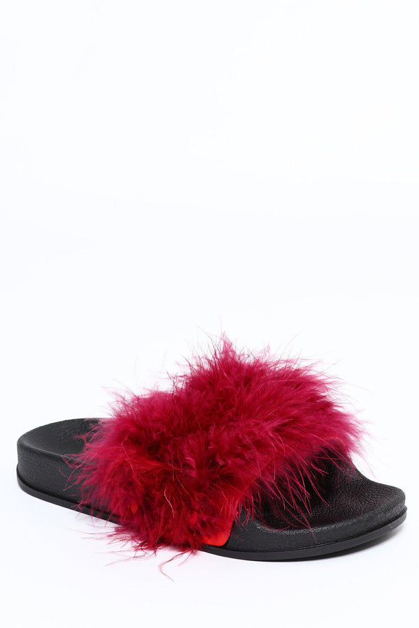 Red Feathers Sliders-SinglePrice