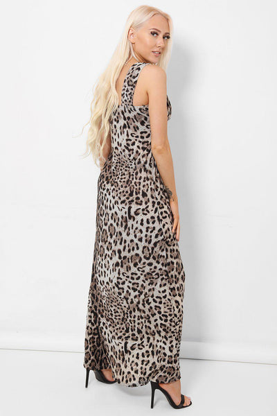 Black Leopard Maxi Dress-SinglePrice
