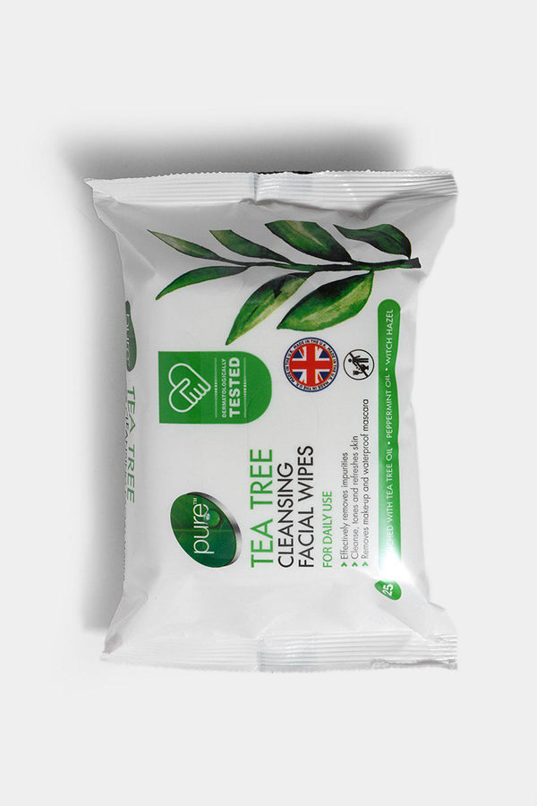 Pure Facial Wipes Tea Tree Extract - SinglePrice