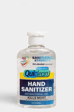 Quick Clean Hand Sanitiser Antibacterial Gel 250ml - SinglePrice