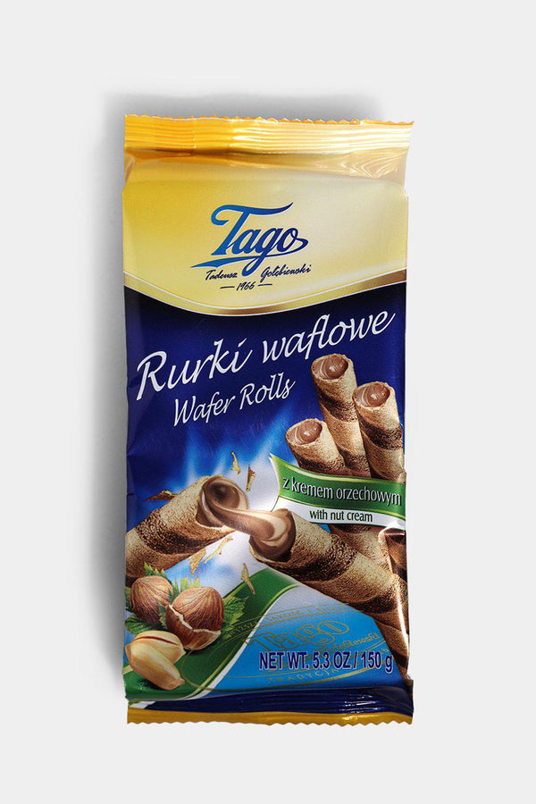 Tago Wafer Rolls With Nut Cream 150g - SinglePrice