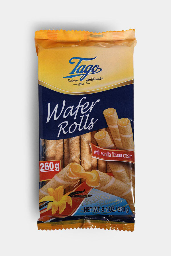 Tago Wafer Rolls With Vanilla 260g - SinglePrice
