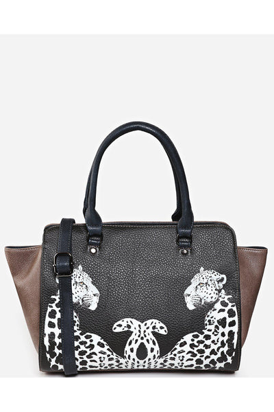 Brown Leopard Print Medium Tote Bag-SinglePrice