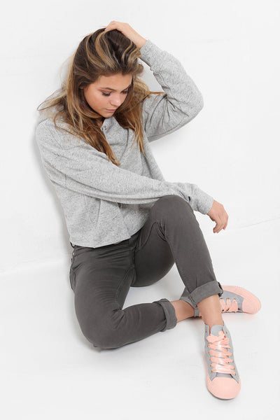 Distressed Finish Ash Grey Jeans-SinglePrice