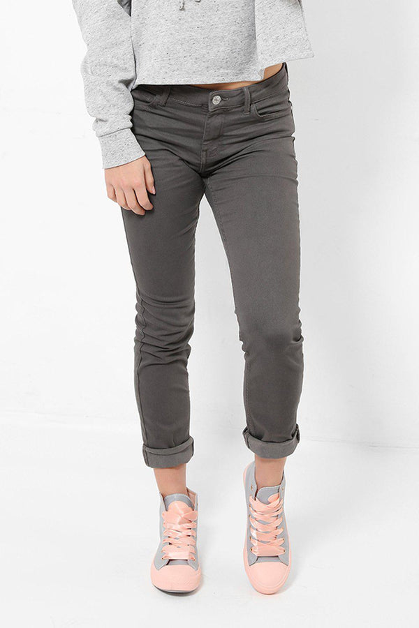 Distressed Finish Ash Grey Jeans - SinglePrice