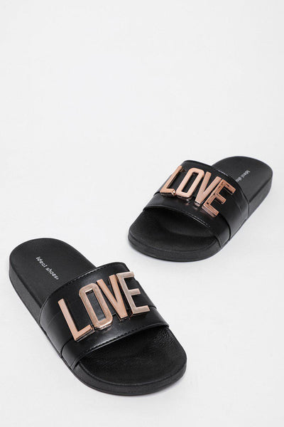 Removable LOVE Letters Black Sliders-SinglePrice