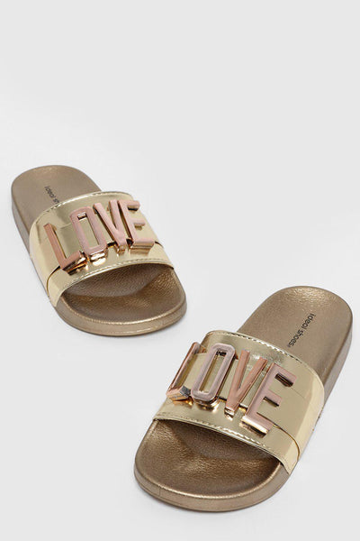 Removable LOVE Letters Gold Sliders-SinglePrice