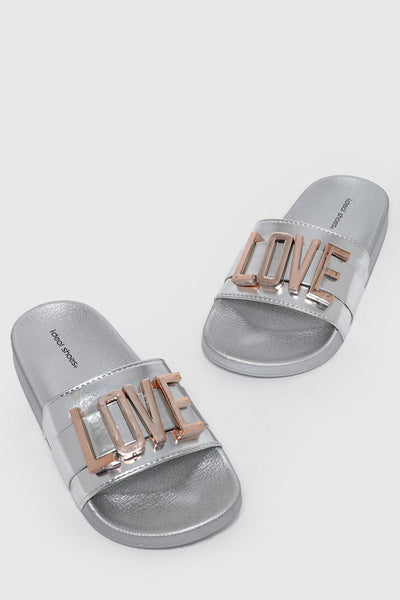 Removable LOVE Letters Silver Sliders-SinglePrice