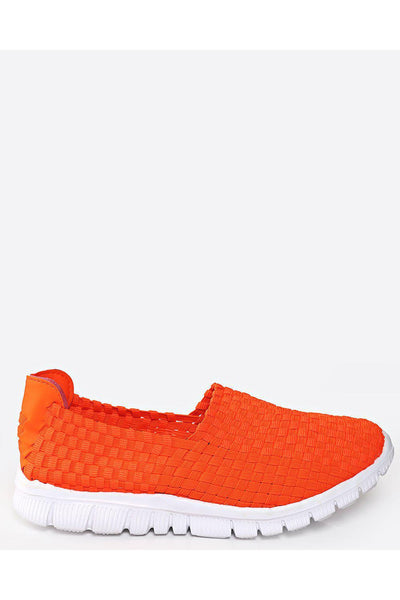 Orange Woven Elastic Light Runner Trainers-SinglePrice