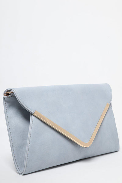Baby Blue Soft Envelope Clutch-SinglePrice