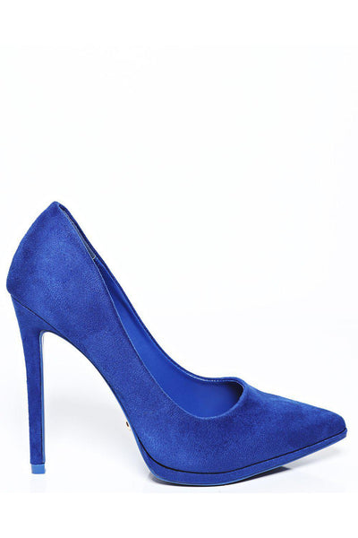 All Blue Suede High Heel Pumps-SinglePrice