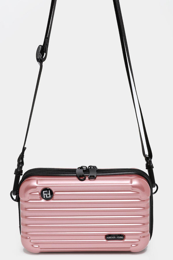 Rose Gold Mini Luggage Case Handbag - SinglePrice