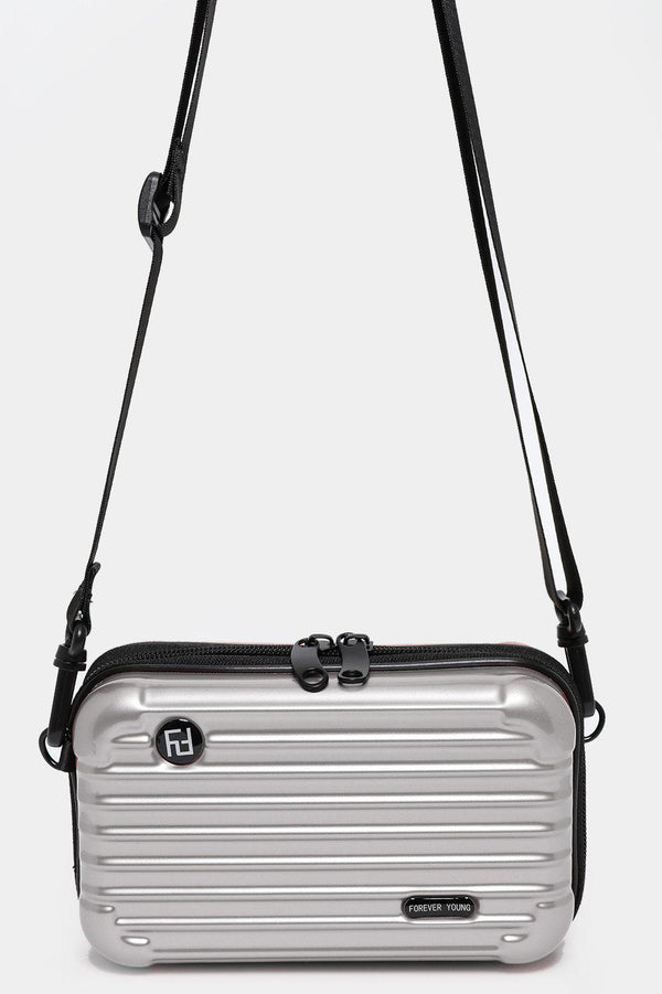 Silver Mini Luggage Case Handbag - SinglePrice