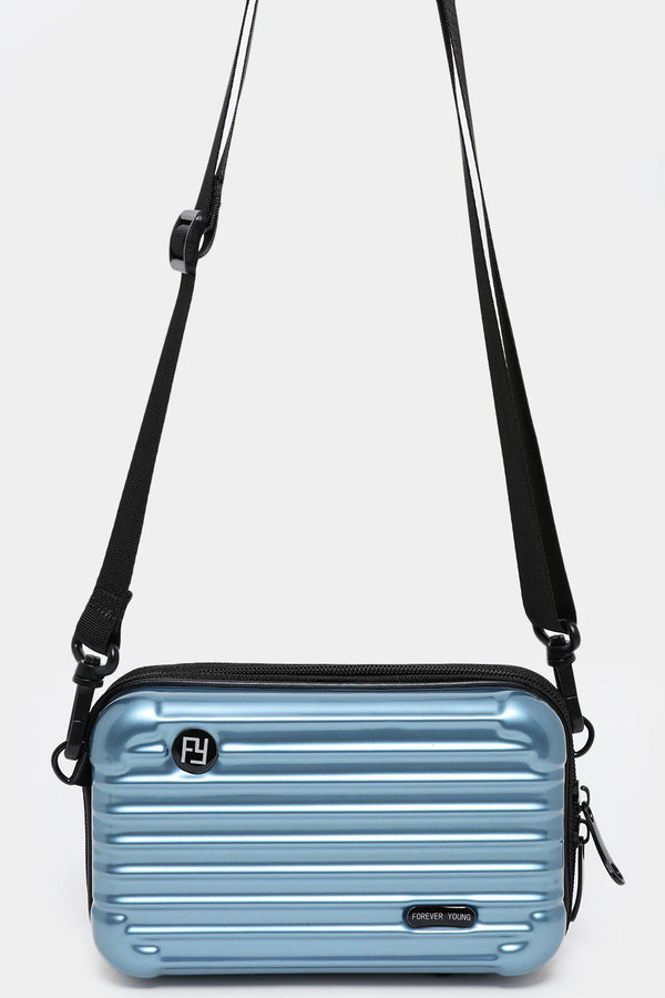 Blue Mini Luggage Case Handbag - SinglePrice