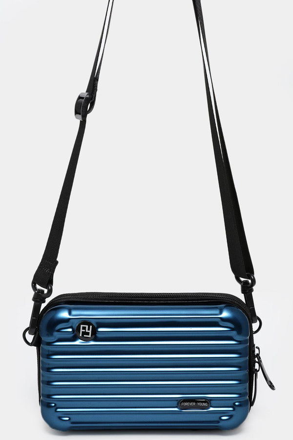 Navy Mini Luggage Case Handbag - SinglePrice