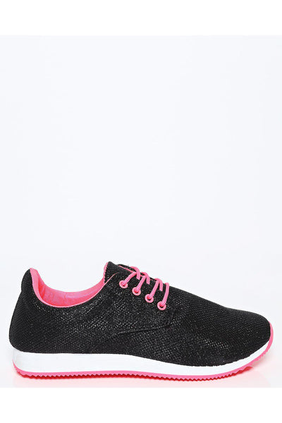 Black Shimmer Neon Laces Trainers-SinglePrice