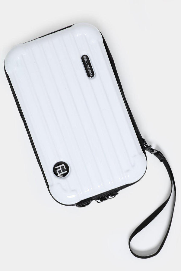 White Mini Luggage Case Handbag - SinglePrice