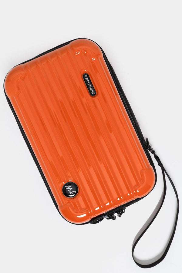 Orange Mini Luggage Case Handbag - SinglePrice