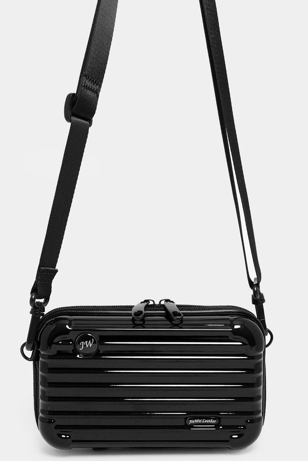 Black Mini Luggage Case Handbag - SinglePrice