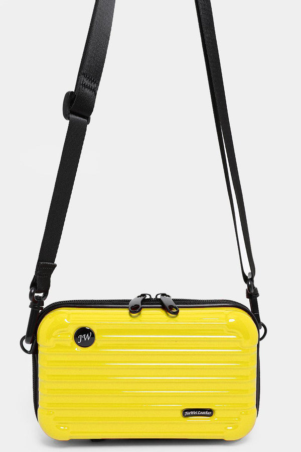 Yellow Mini Luggage Case Handbag - SinglePrice