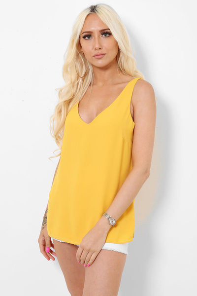 V-Neck V-Back Mustard Top-SinglePrice