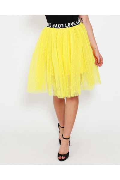 Yellow Love Waist Skirt-SinglePrice