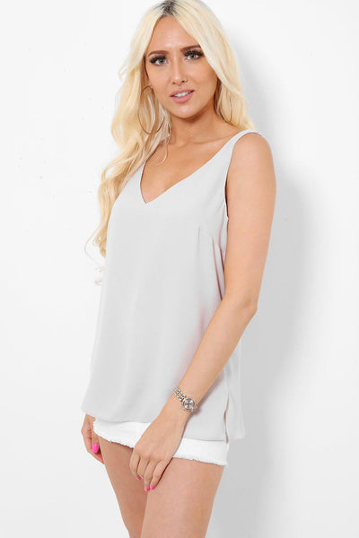 V-Neck V-Back Nude Top-SinglePrice