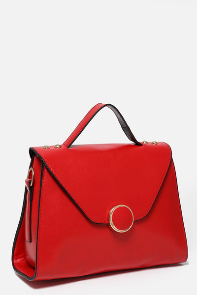 Red Small Trapeze Handbag-SinglePrice