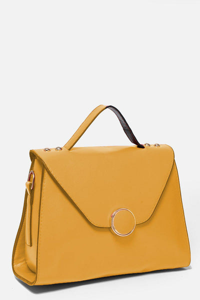 Yellow Small Trapeze Handbag-SinglePrice