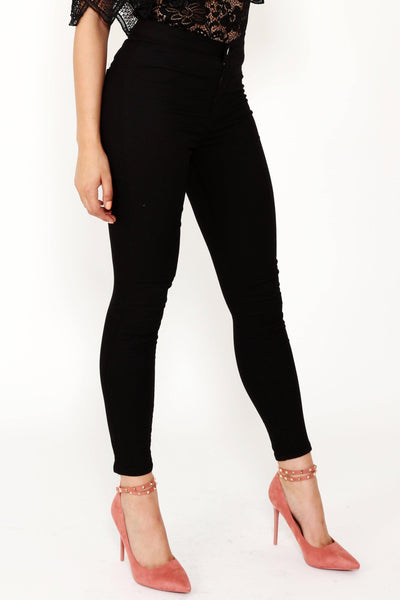 Black High Waisted Jeans-SinglePrice