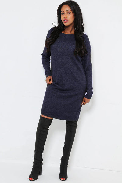 Super Soft Knit Navy Knitted Dress