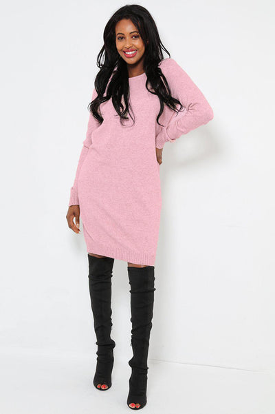 Super Soft Knit Pink Knitted Dress
