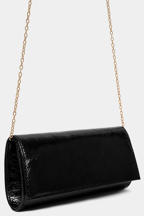 Metallic Black Classic Clutch Bag - SinglePrice